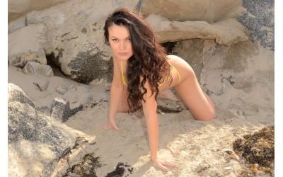 Наташа Бласик - фото сессия на пляже